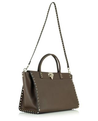Rockstud grained leather handbag VALENTINO