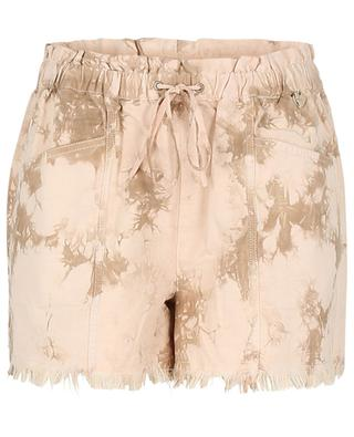 Tie-and-dye-Shorts aus Baumwolle und Lyocell TWINSET