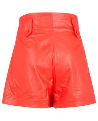 Kunstleder-Shorts mit hohem Bund TWINSET