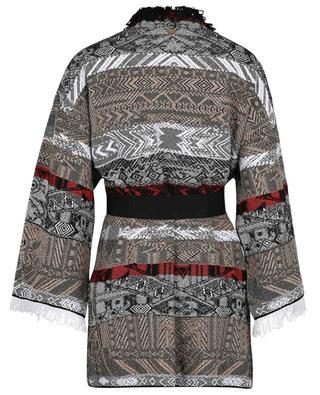 Fringed sparkling maxi jacquard cardigan TWINSET