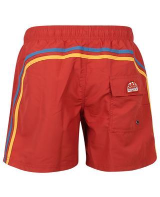 Monochrome swim shorts with tricolour stripe design SUNDEK