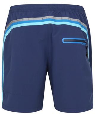 Tricolour stripe adorned stretch micro fibre swim shorts SUNDEK