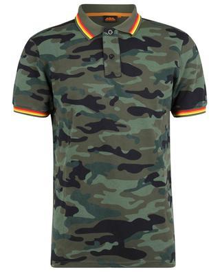 Camouflage printed polo shirt SUNDEK