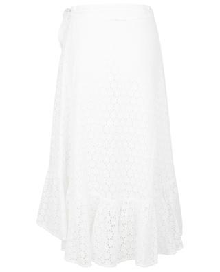 Openwork embroidered short wrap skirt POLO RALPH LAUREN