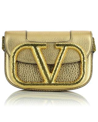 Umhängetasche aus goldenem genarbtem Kalbsleder Supervee Small VALENTINO