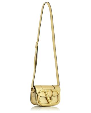 Supervee Small golden grained calfskin cross body bag VALENTINO