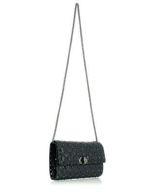 Rockstud Spike Clutch quilted cracked effect leather shoulder bag VALENTINO