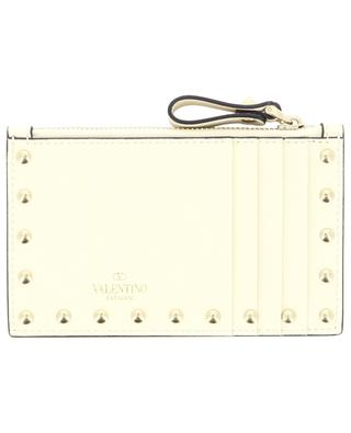 Rockstud leather card case with coin case VALENTINO