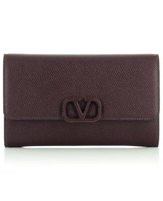 VLogo grained leather chain wallet VALENTINO