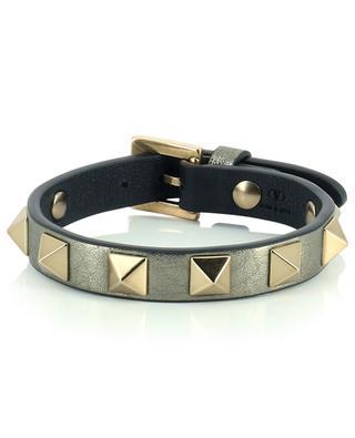 Bracelet en cuir métalique Rochstud VALENTINO