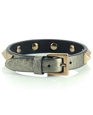 Armband aus Metallic-Leder Rockstud VALENTINO
