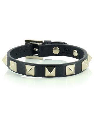Bracelet en cuir grainé Rockstud VALENTINO