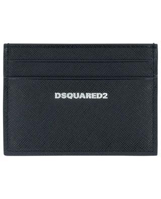 Porte-cartes en cuir saffiano imprimé logo DSQUARED2