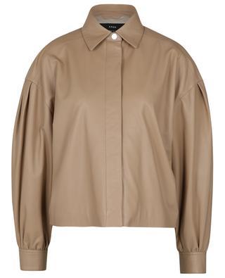 Layla nappa leather boxy jacket ARMA