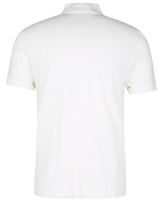 Silk and linen jersey polo shirt MAJESTIC FILATURES