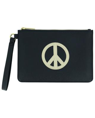 PVC-Clutch mit Peace-Symbol-Applikation ESTELLA BARTLETT