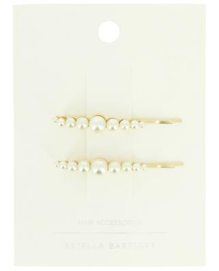 Gold-toned hair clip with white pearls ESTELLA BARTLETT