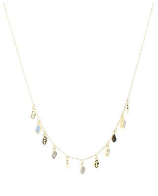 Goldene Halskette mit Mondstein Mali BE MAAD