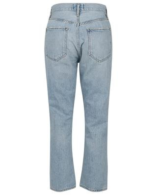 Riley Shatter cropped ripped straight fit high-rise jeans AGOLDE