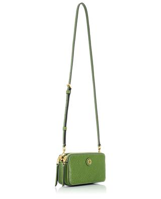 Monogram T Double-Zip embossed leather mini bag TORY BURCH