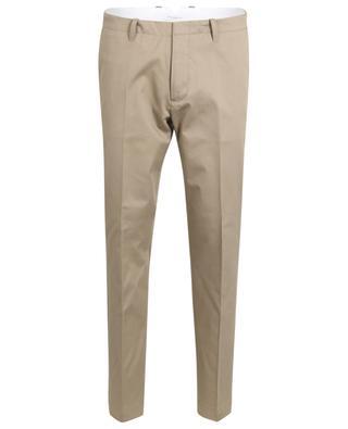 Slim fit cotton gabardine trousers PAOLO PECORA
