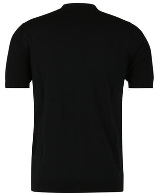 Short-sleeved piqué effect cotton jumper PAOLO PECORA