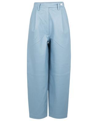 Pantalon carotte en cuir nappa bleu clair Cleo REMAIN BIRGER CHRISTENSEN