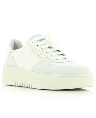 Plateau-Sneakers aus weissem Leder und grauem Wildleder Orbit AXEL ARIGATO