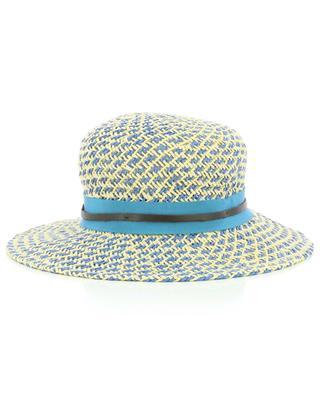 Chapeau en papier bleu et beige GI'N'GI
