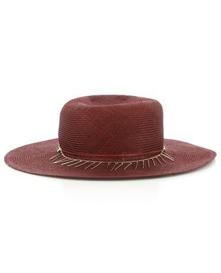 Chapeau en fibres naturelles détail chaîne GI'N'GI