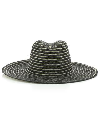Chapeau rayé bicolore en jute et viscose GI'N'GI