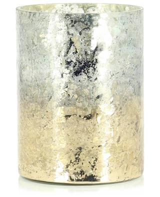 Candle hodler with crackled silver mirror effect HOUSE OF SEASONS