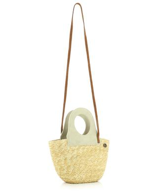 Small straw and suede tote bag CATARZI 1910