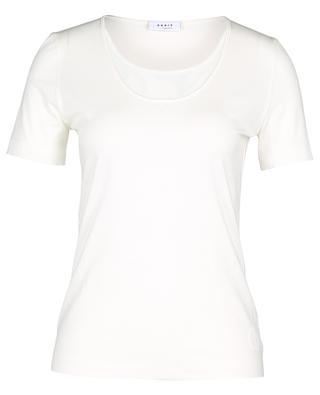 T-shirt en modal mélangé avec broderies anglaises AKRIS PUNTO