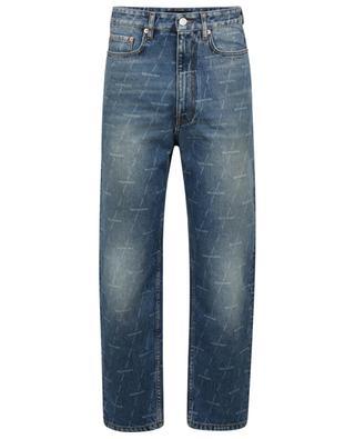 Jean droit en denim imprimé laser Regular Pants BALENCIAGA