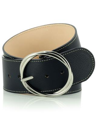 Ceinturon large grained leather belt BERTHILLE MAISON FRANCAISE