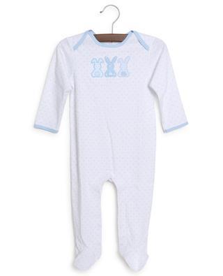 Grenouillère bébé en jersey brodée lapins MAGNOLIA BABY
