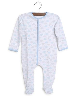 Cloud and star printed baby all-in-one in jersey MAGNOLIA BABY