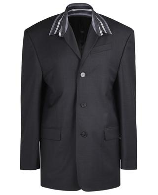 Tailored Shirt glen check blazer with shirt collar BALENCIAGA