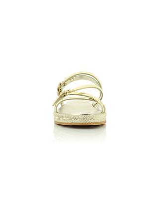 Sandales plates en cuir doré TOD'S