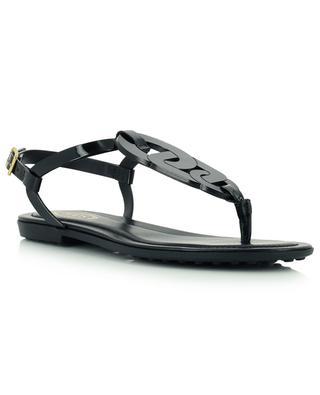 Sandales plates en cuir verni Catena TOD'S