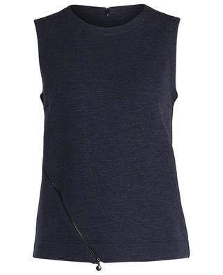 Top trapèze en jersey épais zip décoratif AKRIS PUNTO