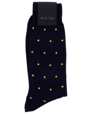 N.219 Short polka dot cotton socks ALTO MILANO