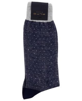 Chaussettes à pois en coton Bracco Short ALTO MILANO