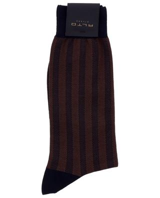 Breton Short fine cotton striped socks ALTO MILANO