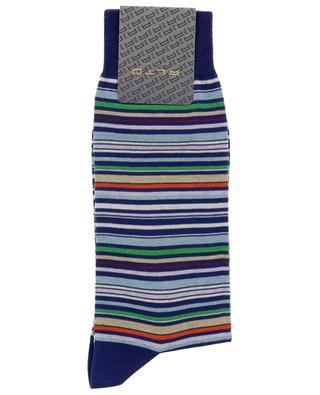 Chaussettes en coton rayé multicolor Genjo Short ALTO MILANO