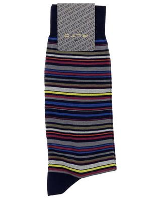 Genjo Short multicolor stripe cotton socks ALTO MILANO