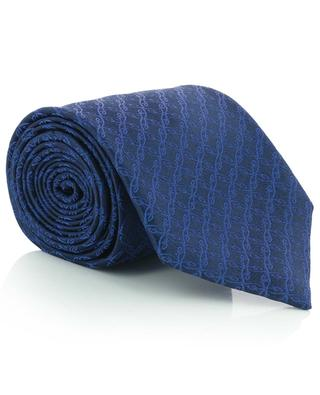 Tie and pocket square gift set with logo pattern BRIONI