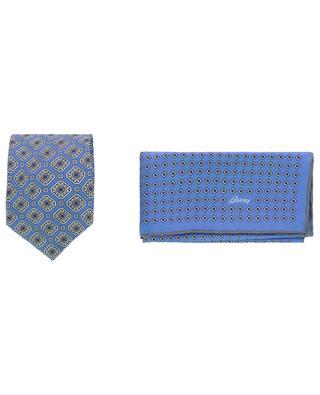 Coffret cravate et pochette imprimées losanges BRIONI