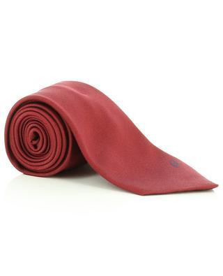 Monogrammed silk twill tie BRIONI